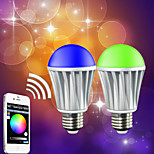 Ampoules LED Intelligentes Gradable / Décorative / Bluetooth RGB HTL 1 pièce A60(A19) E26/E27 7 W RGB 5050 5PCS,2835 10 PCS SMD 5050