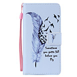 Wild Goose Feather Painted PU Phone Case for Huawei P8 Lite/P8