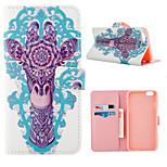 Giraffe Pattern Full Body Case With Card Slot for iPhone 6 Plus/6S Plus