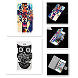 The Tiger With the Owl Pattern PU Leather Full Body Case for iPhone 5/5S