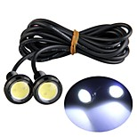 2pcs LED Car Light Eagle Eye LED Rear Backup Reverse Tail White Lights lamp 3W 12V