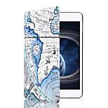 Fashion Map Cartoon PU Leather Smart Case for Apple iPad Mini 4