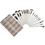20 Pcs Makeup Brushes Set Powder Foundation Eyeshadow Eyeliner Lip Cosmetic Brushes + Grid Bag