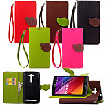 KARZEA™ Leaf Snap PU Full Body Case with TPU Back Cover Stand forASUS ZenFone 2 Laser 5.5 ZE550KL (Assorted Colors)