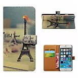 Coloured Drawing or Pattern Good Quality PU Leather Flip Case Mobile Phone Holster for iPhone 6/6S