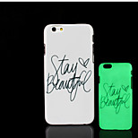 motto zin patroon glow in the dark hard plastic achterkant voor de iPhone 6 voor iPhone 6s case
