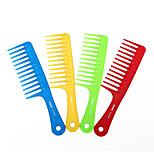 grande pente de dentes largos pente de cabelo encaracolado o cabelo longo cabelo shampoo anti-estático não nó (cor aleatória)