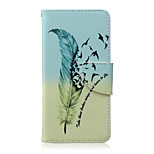 Feather Pattern PU Leather Material Flip Card Phone Case for LG Nexus 5x