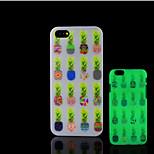 ananas patroon glow in the dark hard plastic achterkant voor de iPhone 5 voor iPhone 5s case