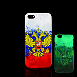 Emblem Pattern Glow in the Dark Hard Plastic Back Cover for iPhone 5 for iPhone 5s Case