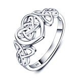 Fashion Party Heart Accessories 925-Sterling-Silver Rings For Women &Lady