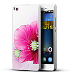Lucky Flower 3D Printing Carving Hard Back Case Ultrathin Metal Bumper for Huawei P8 Case