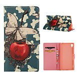 Special Design Coloured Drawing or Pattern Graphic Wallet Cases with Stand Full Body Cases for Sony Xperia Z3/Xperia Z4