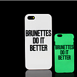 frase lema padrão de brilho na tampa traseira de plástico duro escuro para iphone 5 por 5s iphone caso