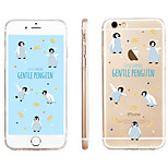 Penguin  Pattern Transparent TPU Material Phone Case for iPhone 6/ 6S