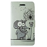 Elephant Dandelion Painted PU Phone Case for iphone5/5S