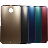 Plating Metal Surface Design PC Stiff Case for MOTO Google Nexus 6 (Assorted Colors)