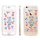 Avocado  Pattern Transparent TPU Material Phone Case for iPhone 6/ 6S