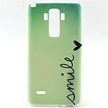 Smile Pattern TPU Soft Case for LG G4 Stylus