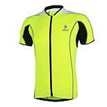 Men Short Sleeve Cycling Jersey Bike Outdoor Summer Sportswear Tops Cloth Full Zippered Breathable with Rear Pockets