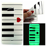 Love Piano Pattern TPU Luminous Phone Case For Nokia Lumia 540