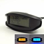 12V / 24V Gebrauch orange / blaue Hintergrundbeleuchtung LCD-Anzeige Innen- / Außenthermometer mit Voltmeter und 12/24