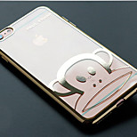 Cartoon Electroplate Tpu With Back Case For Iphone6/6s(Assorted Colors)