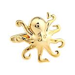 Animal World Cup gold octopus Paul French shirt cufflinks cuff nail