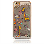 Silver Giraffe Pattern PC Material Stereoscopic Stars Quicksand Phone Case for iPhone 6 / 6S