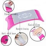 Comfortable Plastic & Silicone Nail Art Cushion Pillow  Manicure Accessories Tool Equipment(Color Random)
