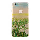 The New Lawn Landscape Pattern Translucent TPU Material Combo Phone Case for iPhone 6/ 6S