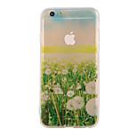 o translúcida de material TPU caso de telefone combinação novo padrão paisagem relvado para iphone 6 / 6s