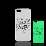Motto Begriff Muster im Dunkeln leuchten Hartplastikhülle für iPhone 5 für iPhone 5s Fall