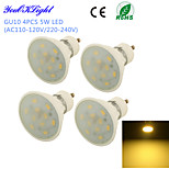 YouOKLight® 4PCS GU10 5W 10*SMD5730 Warm White Light Long life Ceramic Spot LED Lights (AC110-120V/220-240V)