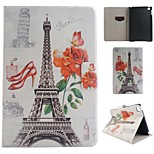 Paris Tower Coloured Drawing or Pattern PU Leather Folio Case Tablet Holster foriPad Mini 4
