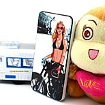 2-in-1 Bikini Girl Pattern TPU Back Cover with PC Bumper Shockproof Soft Case for Xiao Mi 4 MI4