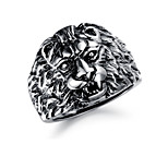 Vintage / Casual Titanium Steel Ring