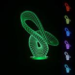 3d atmosphère visuelle de l'humeur de modèle de ruban a conduit décoration usb lampe de table cadeau coloré lumière de nuit
