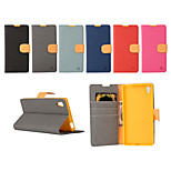 Yi Cai Gyrosigma PU leather Card Holder Leather Belt Around Open for Sony Z5(Assorted Colors)