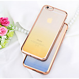 Gradient Electroplate Tpu With Back Case For Iphone6/6s(Assorted Colors)