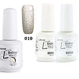 LIBEINE 1set(Color 010 + Base Coat+ Top Coat) 3PCs Soak Off 15 ML UV Gel Nail Polish Color Gel Polish