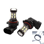 2 Pcs 9006/9005 HB4 9012 White 15-SMD LED Canbus Car Fog Driving Headlight Lamp Blub
