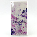 Life is Beautiful Pattern TPU Soft Case for Sony Xperia Z5 Premium