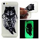 Feather Wolf  Pattern TPU  Luminous Phone Case For  iPhone 6 /6S