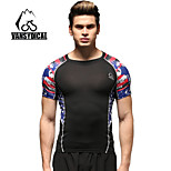 Vansydical Men's Breathable Fitness Tops Yellow / Red / Blue