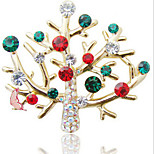 New Arrival Fashion Jewelry Rhinestone Crystal Christmas Trsee