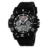 Multi-Function Outdoor Sport Watch Dual Movement Dual Display Waterproof Watch With Calendar
