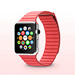 Apple Watch Band 42mm and 38mm Premium Vintage Genuine Leather Replacement Watchband  Magnetic band for iWatch