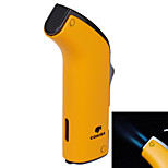 5521 Double Hole Blue Fire Windproof Torch -Yellow ,Black