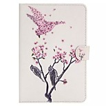 Flowers Kingfisher Pattern Standoff Protective Case for iPad Mini 4